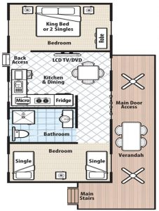 Floor plan for Palm Cabin