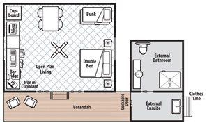 Floor plan for Ensuite Cabin