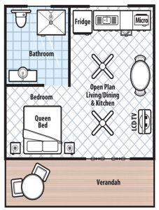 Floor plan for Holiday Unit
