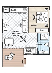 Floor plan for Rainforest Retreat